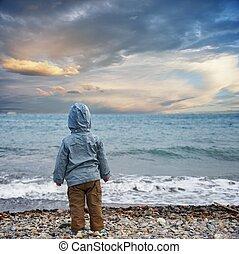 praia., criança