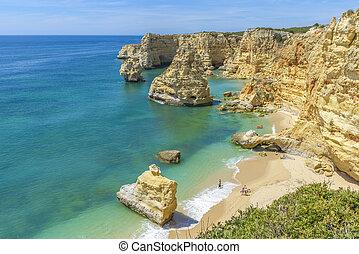 Praia da Marinha near Lagoa, in Algarve, Portugal - General ...