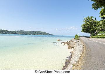 praia, de, ilha mahe, seychelles