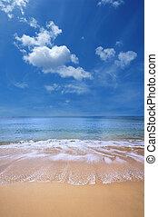 praia, de, ouro