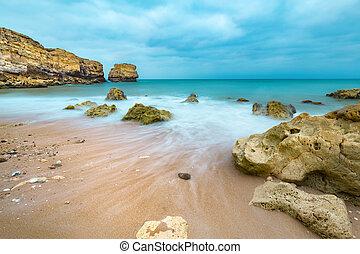 Praia de São Rafael, Algarve, Portugal. One of the many...
