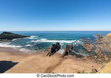 Praia dos machados beach in Costa Vicentina, Portugal