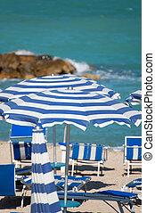 praia, em, a, verão
