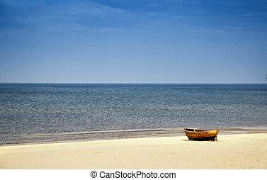 praia, em, mar báltico