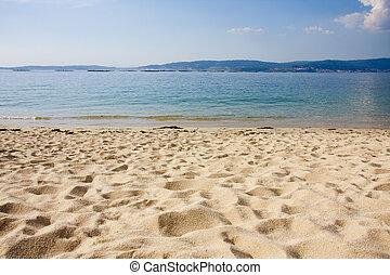 praia, galicia, espanha, bueu