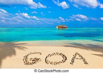 praia, goa, palavra