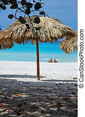 praia, guarda-sol