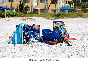 praia, itens