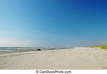 praia, longo, rodovia