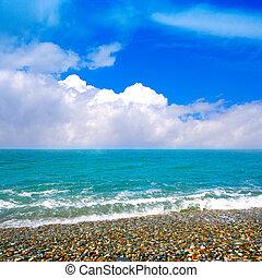 praia, mar