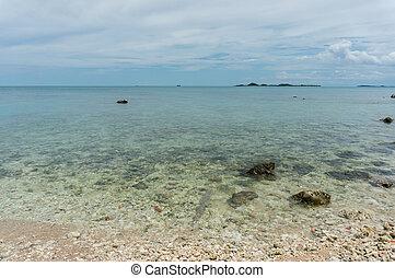 praia, mar, pedras