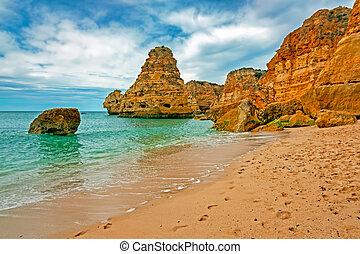 praia, marinha, algarve, portugal, da