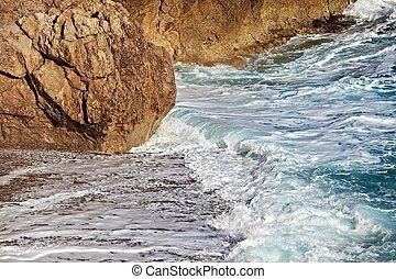 praia, ondas