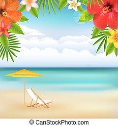 praia, paisagem
