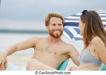 praia, par