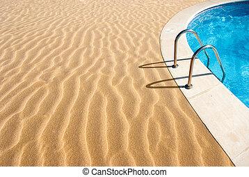 praia, piscina