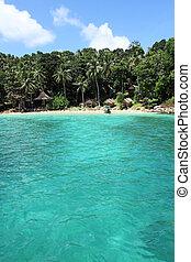 praia, pp, ilha privada