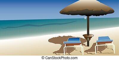 praia, relaxamento, férias, verão