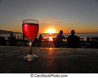 praia, restaurante