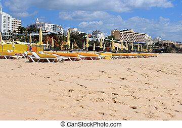 praia, rocha, da