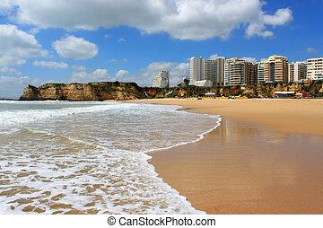praia, rocha, da, portugal, algarve