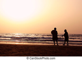 praia, seniores