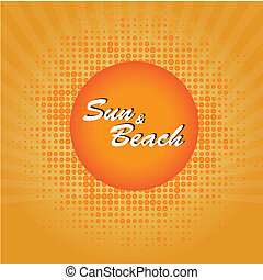 praia, sol
