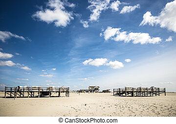 praia, st., peter-ording, arenoso
