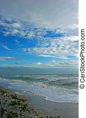 praia, tempestuoso
