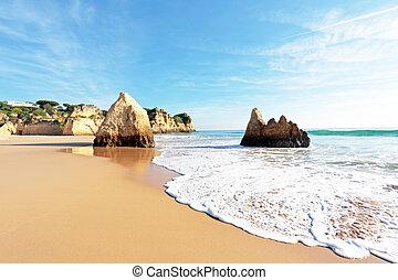 praia, tres, alvor, portugal, irmaos