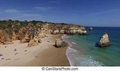 praia,  tres, Luftaufnahmen,  alvor,  irmaos