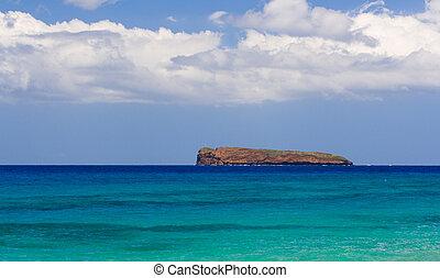 praia tropical, em, havaí