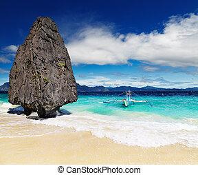 praia tropical, filipinas, el nido