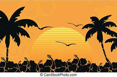 praia tropical, havaiano, wallpaper10