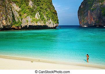praia tropical, tailandia