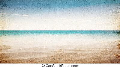 praia tropical, verão, fundo