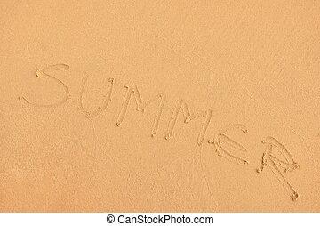 praia, verão, fundo