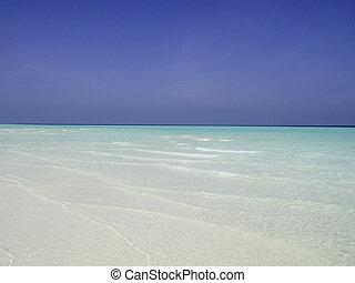 praias, e, cores, de, maldives