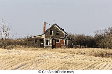 Prairie Abandoned Homestead