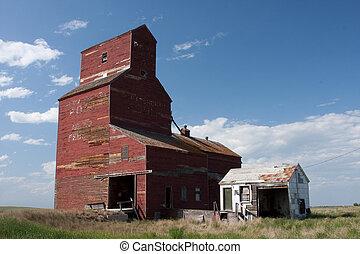 prairie, ascenseur grain, canadien