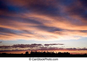 Prairie Farm Sunset