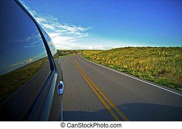 prairie, groot, reis