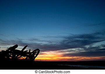 Prairie Landscape - A sunet on a saskatchewan prairie...