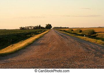 Prairie Road into distanc