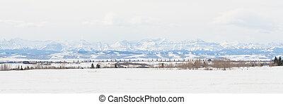Prairie Rocky Mountain Panorama