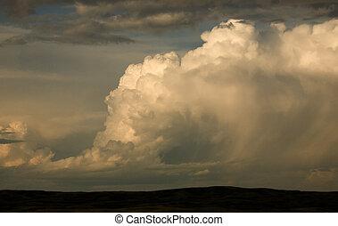 Prairie Storm in Saskatchewan Canada storm clouds