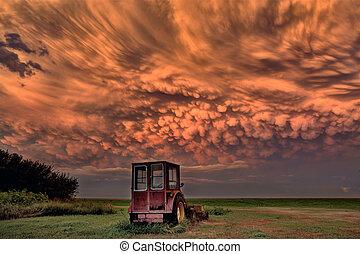 Prairie Storm Saskatchewan Sunset