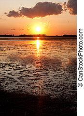 Prairie sunset on Swamp