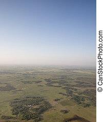 prairie, vue aérienne