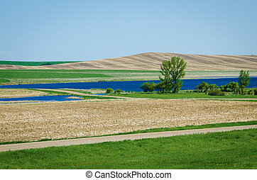 Prairies in the spring - Canadian prairies in the spring on...